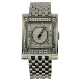 Bedat & Co. No.7 Stainless Steel Date Diamond Dial and Diamond Bezel Automatic 25.5mm x 32mm Watch