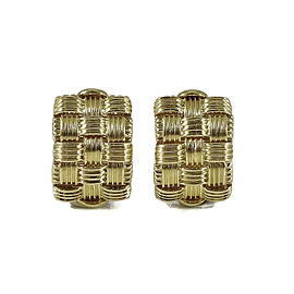 Roberto Coin 18K Yellow Gold 3-Row Appassionata Earrings