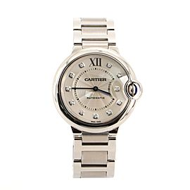 Cartier Ballon Bleu de Cartier Automatic Watch Stainless Steel with Diamond Markers 36