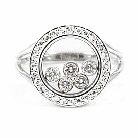 Chopard 18KWhite Gold, Happy Diamond Round Ring CHAT-151