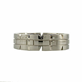 CARTIER 18k white gold Tank francais ring CHAT-1002
