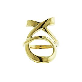 14k Yellow Gold XO Ring Size 7
