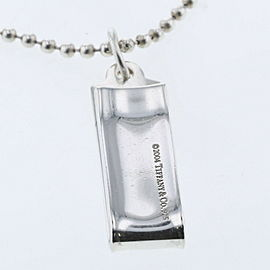 TIFFANY & Co. Silver ID Card Clip Ball Chain Necklace TBRK-608