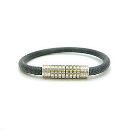 LOUIS VUITTON Damier Graphite Keep It Bracelet M6609E