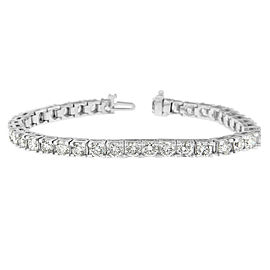 14K White Gold 11.41ctw. Diamond Tennis Bracelet