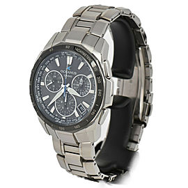 CASIO Oceanus Manta OCW-S1000 Black Dial Solar Powered Radio Men's Watch