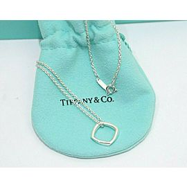 Tiffany & Co. Silver Frank Gehry Small Narrow Torque Pendant Necklace TNN-1824
