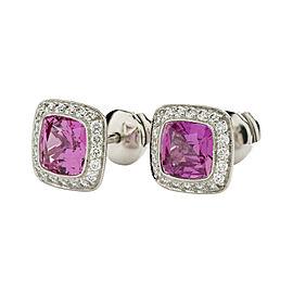 Tiffany & Co. Legacy Platinum Sapphire Diamond Earrings