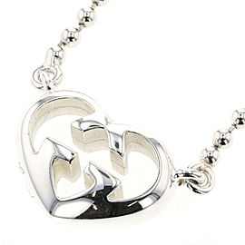 GUCCI 925 silver Interlocking heart Necklace