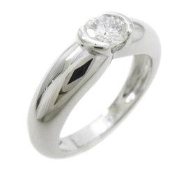 Cartier 18K White Gold Diamond Ring Size 3.75