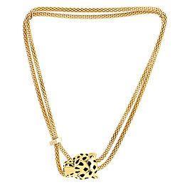 Cartier Panthere De Cartier Necklace 18K Yellow Gold with Diamonds, Black Enamel, Tsavorite and Onyx