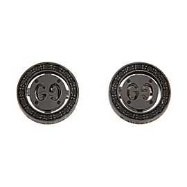 Gucci 18K Black Gold with 0.11ct Diamond Icon Twirl Stud Earrings
