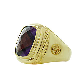 David Yurman Albion Amethyst Yellow Gold Cocktail Ring 14mm