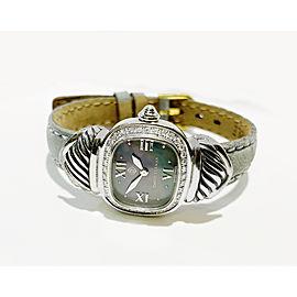 David Yurman Sterling Silver Diamond MOP Dial Watch T-23215