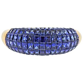 Invisible Set Sapphire Gold Ring
