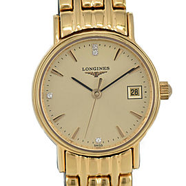 LONGINES L2.220.2 4P Gold Dial Quartz Ladies Watch