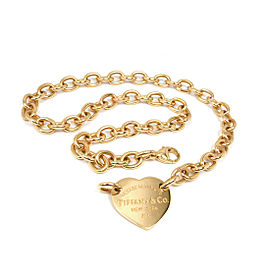 Tiffany & Co. Return To Tiffany 18K Yellow Gold Heart Tag Choker Necklace