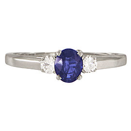 Tiffany & Co. Platinum with 0.2ct. Diamond and Sapphire Engagement Ring Size 8.5