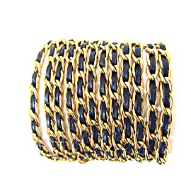 Chanel Gold Tone Hardware with Leather Vintage Bracelet