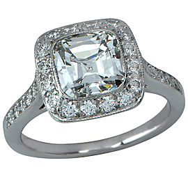 Tiffany & Co. Legacy Platinum with 2.29ct Diamond Engagement Ring Size 5.25