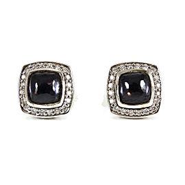 David Yurman Sterling Silver .25tcw Black Orchid Diamond Petite Albion Earrings