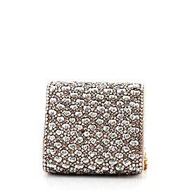 Dolce & Gabbana Chain Full Flap Bag Embellished Satin Small
