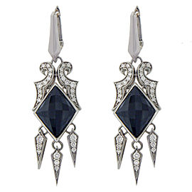 Stephen Webster 925 Silver and 14K Gold Post Crystal & Diamonds Earrings