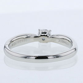 TIFFANY & Co 950 platinum Harmony D0.20ct Ring