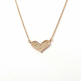 18K pink Gold Diamond Necklace