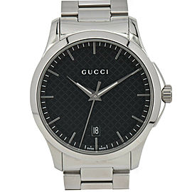 GUCCI G timeless 126.4 Black Dial Date Quartz Men's Watch