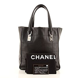 Chanel Square Stitch Tote Quilted Leather Medium
