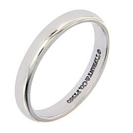 Tiffany & Co. 950 Platinum Wedding 3mm Band Ring Size 7.25