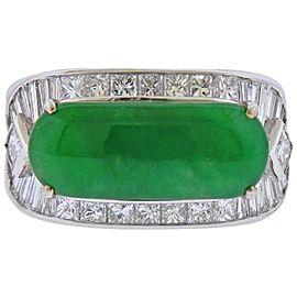 Jade Gold Diamond Ring