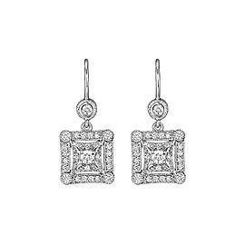 Penny Preville 18K White Gold & Square Diamond Earrings