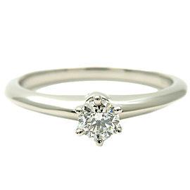 Tiffany & Co. 0.20t Platinum Diamond Solitaire Ring