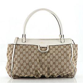 Gucci D-Ring Shoulder Bag GG Canvas Large