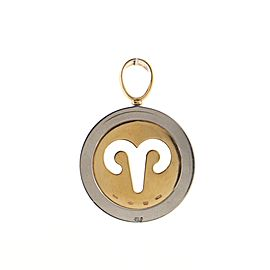 Bvlgari Zodiac Pendant Necklace 18K Yellow Gold and Steel