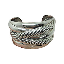 David Yurman Sterling Silver Crossover Cuff Bracelet