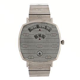 Gucci Grip Date Quartz Watch Stainless Steel 35