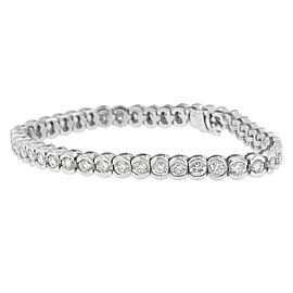 14K White Gold 8ctw. Diamond Bracelet