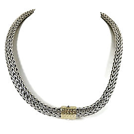 John Hardy 18K Yellow Gold, Sterling Silver Necklace