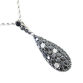 Platinum/Black diamond/diamond Necklace