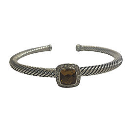 David Yurman Albion Sterling Silver with Morganite & 0.24ct Diamonds Bracelet