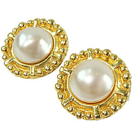 CHANEL Gold Plated/Fake pearl Earring