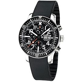 Fortis 638.10.41R B-42 Marinemaster Stainless Steel Chronograph 42mm Mens Watch