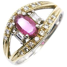 Platinum/Ruby/diamond Ring