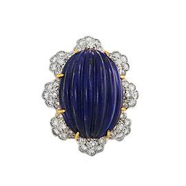 Unique Diamond Lapis Lazuli Ring in Gold