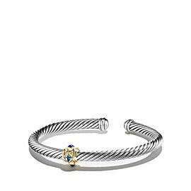 David Yurman Renaissance Bracelet with Blue Topaz, Lapis Lazuli and Gold