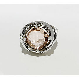 David Yurman Sterling Silver Morganite Infinity Ring