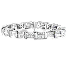 14K White Gold 10.65ctw. Diamond Bracelet